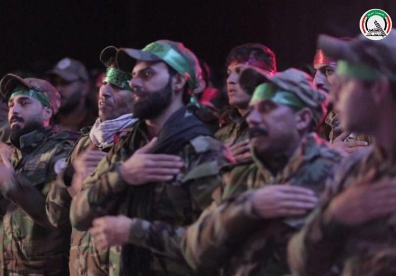عراق| مراسم چهلمین روز شهادت حاج قاسم و ابومهدی با حضور رزمندگان حشد شعبی+تصاویر