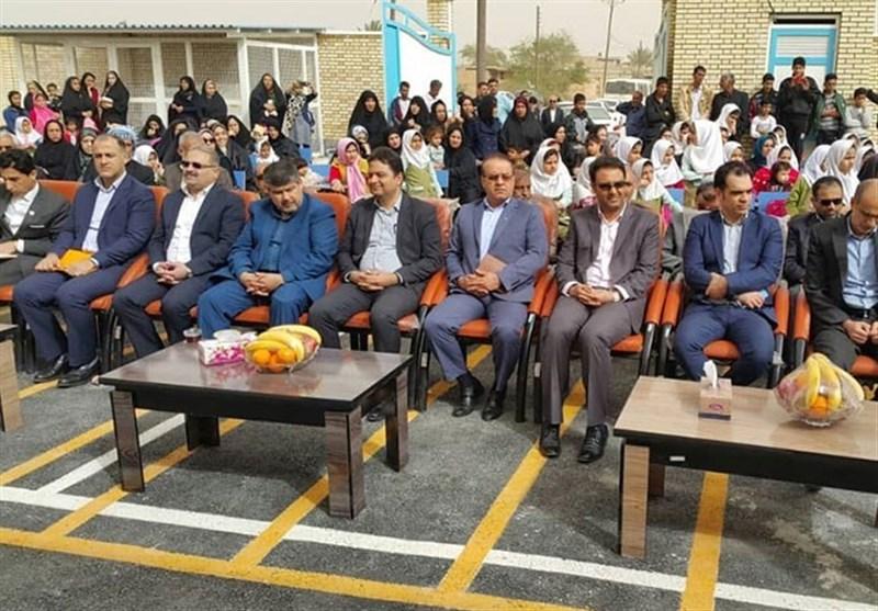 افتتاح دو باب مدرسه در خوزستان با مشارکت بانک ملی ایران