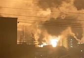 انفجار مهیب در پالایشگاه نفت و گاز در آمریکا