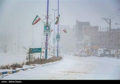 بارش برف - اهر