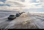 بارش برف در جادههای خراسان رضوی و شمالی