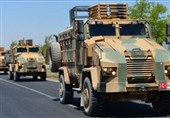اعزام کاروان نظامی جدید ترکیه به مرز سوریه
