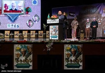 سخنرانی حسین اکبری کارشناس مسائل بین المللی در مراسم گرامیداشت شهید حسن شاطری و شهدای جبهه مقاومت