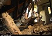 طوفان به شهرهای استان مازندران خسارت زد؛ سقف 11 خانه بابلسر را باد برد