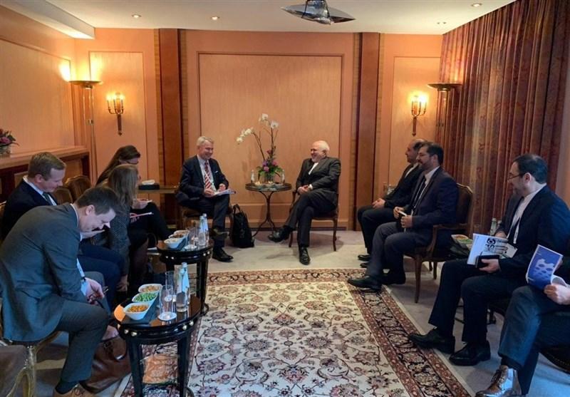 دیدار ظریف با وزیر خارجه فنلاند