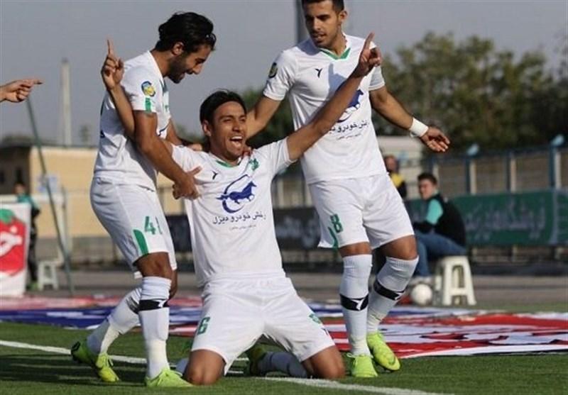 لیگ برتر فوتبال  برتری دوگله شاهین مقابل ماشینسازی در نیمه نخست