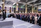 """روایت """"مجله اینترنتی نگار"""" از دیدار مداحان با رهبر انقلاب + فیلم"""