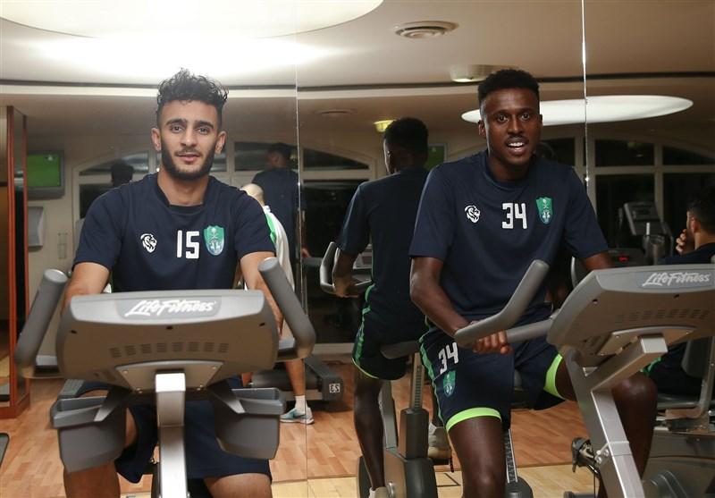 بدنسازی بازیکنان الاهلی پیش از رویارویی با استقلال