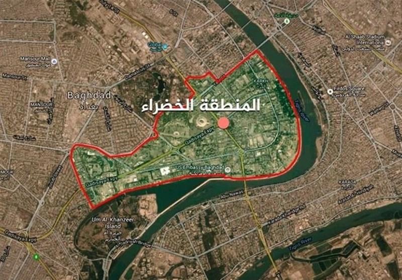 مانور نظامی آمریکا در منطقه الخضراء ؛ آزمایش موشکی در مرکز بغداد