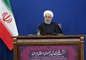روحانی: مشاکل المنطقة ناجمة عن التدخلات الأمریکیة غیر القانونیة