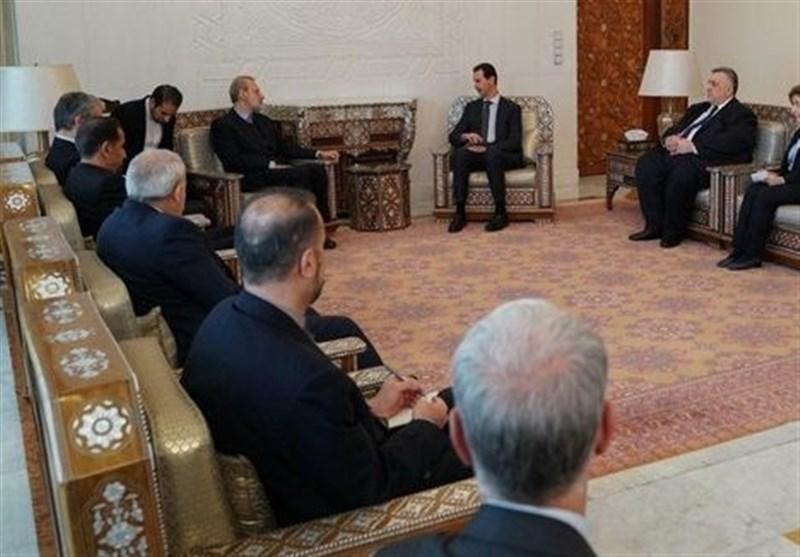الأسد لوفد إیرانی: الشعب السوری مصمم على تحریر کامل الأراضی السوریة من الإرهاب