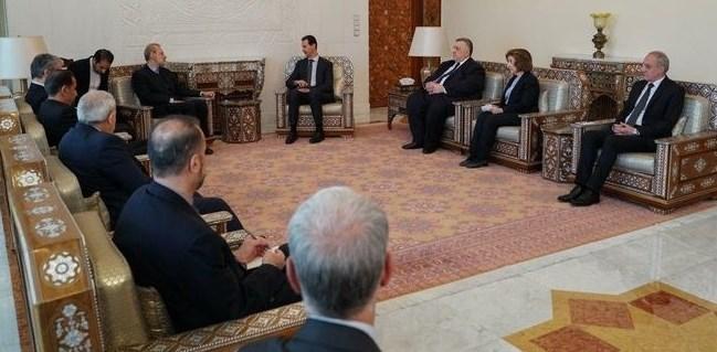 دیدار لاریجانی با بشار اسد در دمشق/ ملت سوریه مصمم به پاکسازی کامل کشورشان از لوث تروریسم هستند