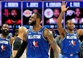 دیدار ستارههای NBA به سود تیم لبران تمام شد