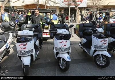 بهره برداری از تجهیزات جدید اورژانس بازار بزرگ تهران(اهدایی خیرین بازار)