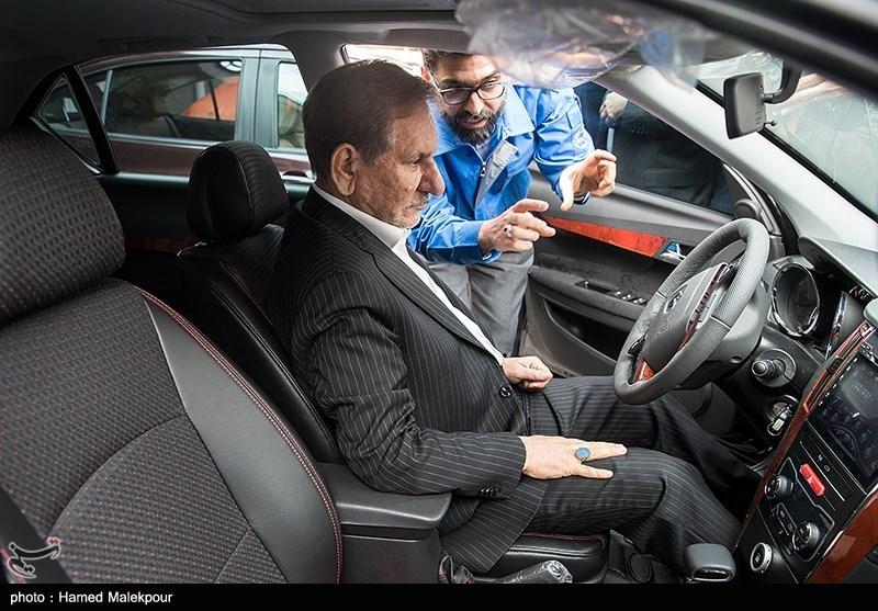 رونمایی از چهار خودرو تولید داخل با حضور اسحاق جهانگیری معاون اول رئیس جمهور