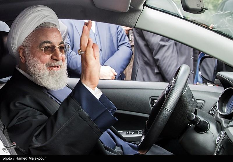 رونمایی از چهار خودرو تولید داخل با حضور حجتالاسلام حسن روحانی رئیسجمهور