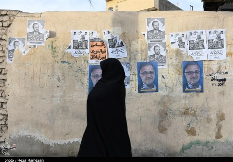 تبلیغات کاندیداهای انتخابات مجلس و خبرگان در قم از نگاه دوربین