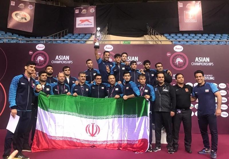 ایران تحرز باقتدار بطولة آسیا بالمصارعة الرومانیة بخمس ذهبیات وفضیة وثلاث برونزیات