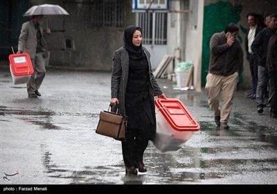 توزیع صندوق های رای در کرمانشاه