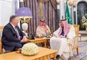 دیدار وزیر خارجه آمریکا با پادشاه و وزیر خارجه عربستان