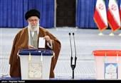 انتخابات مجلس 98 |رهبر معظم انقلاب آراء خود را به صندوق انداختند