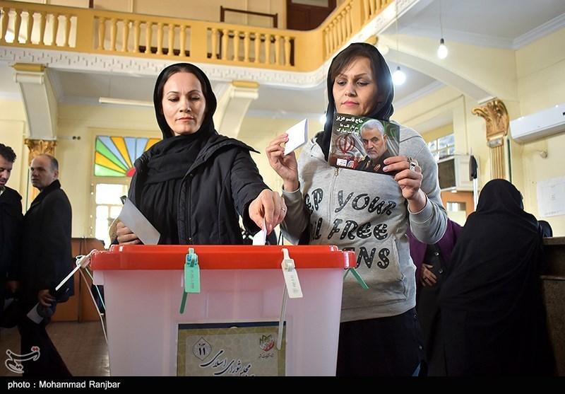 women voting in Gilan