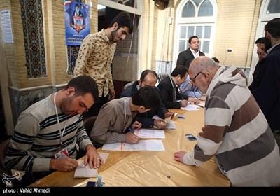 صندوق اخذ رای در مسجد لرزاده