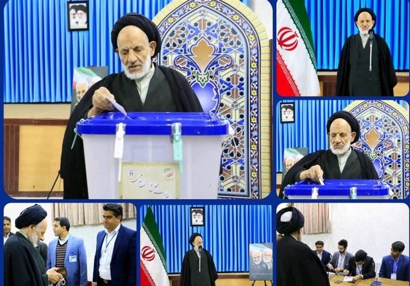 انتخابات ایران| حضور نماینده ولیفقیه در استان خراسان جنوبی پای صندوق رای به روایت تصویر