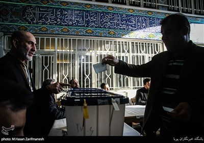 صندوق اخذ رای در مسجد النبی (ص)-نارمک