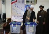 انتخابات ایران| آیتالله اعرافی رای خود را به صندوق انداخت