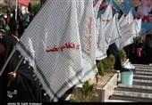 انتخابات ایران| اهتزار پرچمهای انتقام سخت رایدهندگان کرمانی در جوار مزار حاج قاسم به روایت تصویر