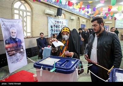 حضور سردار قاآنی در پای صندوق رای