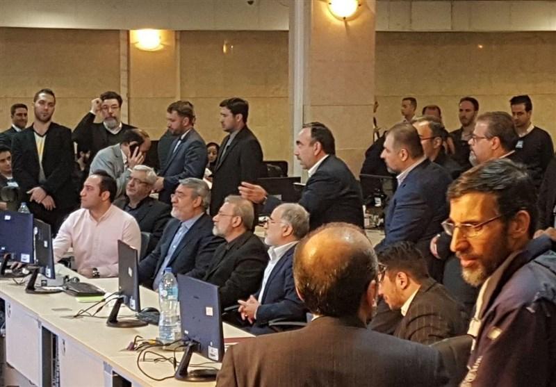 بازدید لاریجانی از ستاد انتخابات کشور