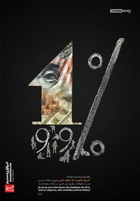پوستر/ آمریکا حکومت رشوهخوار سیاسیِ نامحدود