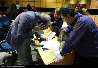 حضور خبرنگاران در ستاد انتخابات کشور در روز اعلام نتایج آرای منتخبان