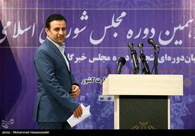 اعلام نتایج اولیه آرای منتخبان تهران در وزارت کشور توسط موسوی سخنگوی ستاد انتخابات کشور