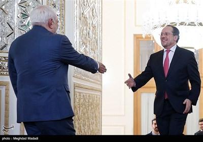 دیدار الکساندر شالنبرگ وزیر خارجه اتریش با محمدجواد ظریف وزیر امور امور خارجه جمهوری اسلامی ایران