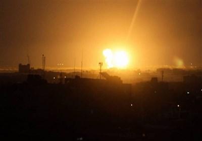 صیہونی جنگی جہازوں کی فلسطین کے شمالی علاقے غزہ کی پٹی پر ایک بار پھر بمباری