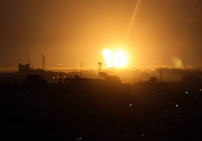 حمله جنگندههای صهیونیستی به شرق غزه