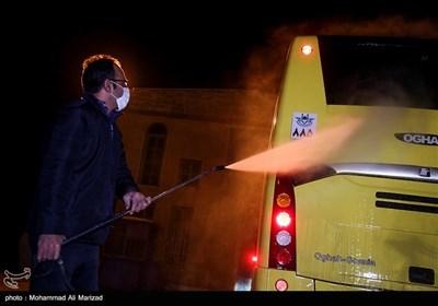 ضدعفونی ناوگان اتوبوسرانی شهر قم
