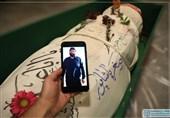 پیکر شهید پاشاپور به معراج شهدای تهران رسید + فیلم و عکس