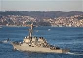 ناوگان دریای سیاه روسیه تحرکات ناوشکن آمریکایی را زیر نظر دارد