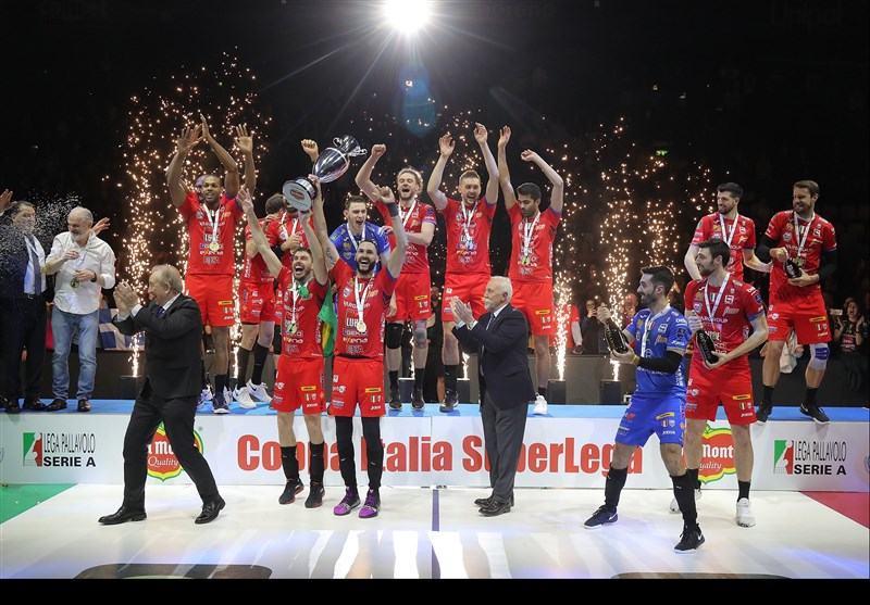 یاران غفور قهرمان جام حذفی والیبال ایتالیا شدند+عکس