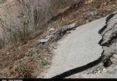 رانش زمین در قطعه 4 آزادراه تهران ـ شمال + فیلم