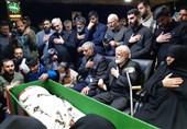 وداع با پیکر بیسر فرمانده مدافعان حرم، شهید اصغر پاشاپور +عکس و فیلم