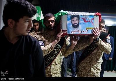 وداع با پیکر بیسر فرمانده مدافعان حرم، شهید اصغر پاشاپور