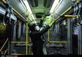 خودروهای حمل و نقل عمومی همدان برای مقابله با کرونا ضدعفونی شدند