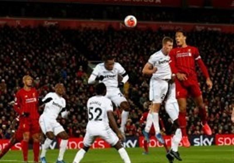 ترتیب الدوری الإنجلیزی الممتاز عقب مباراة لیفربول ضد وستهام