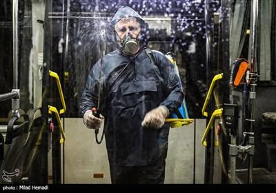 ضد عفونی کردن ناوگان اتوبوسرانی اهواز