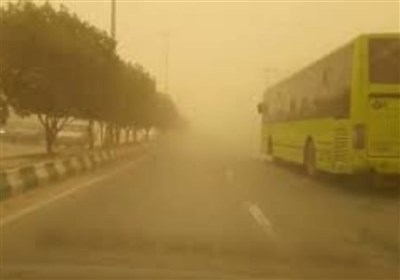 غلظت گرد و غبار هوا در مهران به وضعیت بحرانی رسید